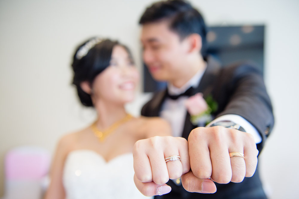wedding ring couple
