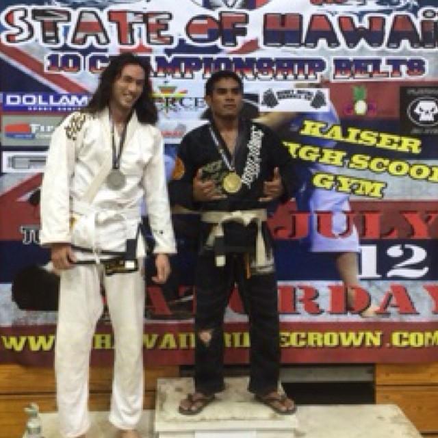 Joel takes second in Gi at #hawaii 👑👑👑 #nsjjclub #haleiwa #oahu #bjj