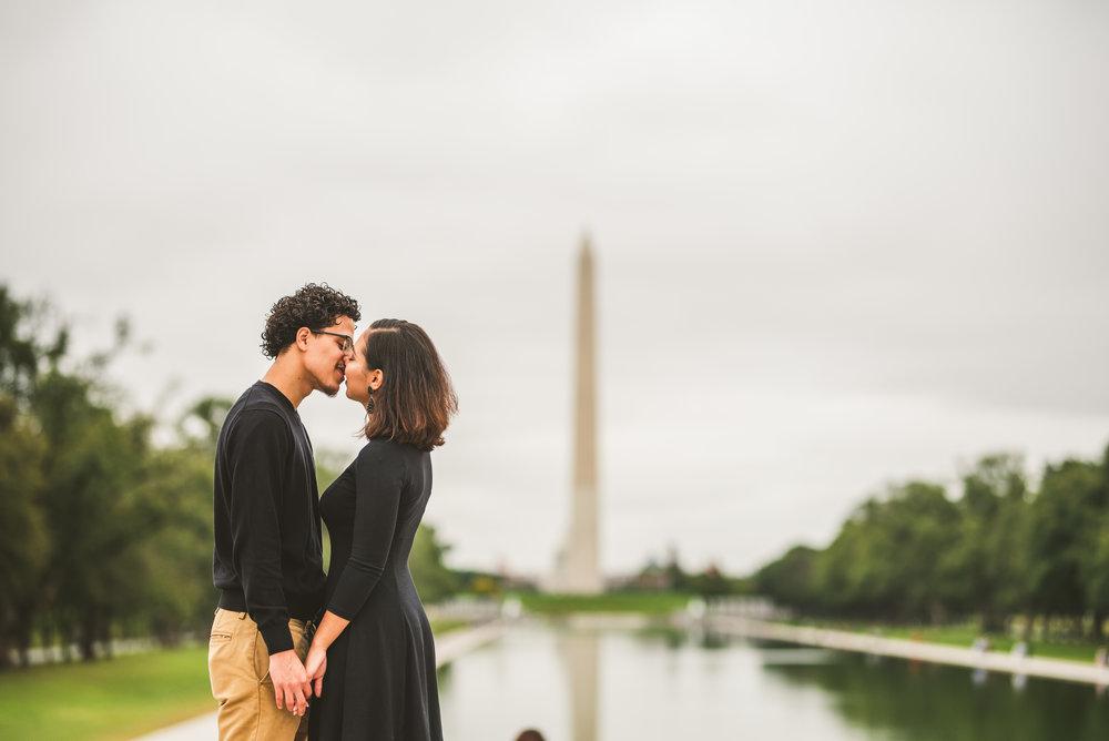Washington D.C monument engagement session