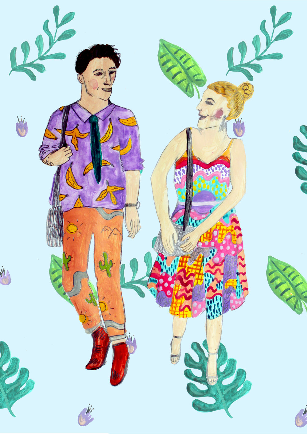 Sam and Chris, commissioned illustration 2016