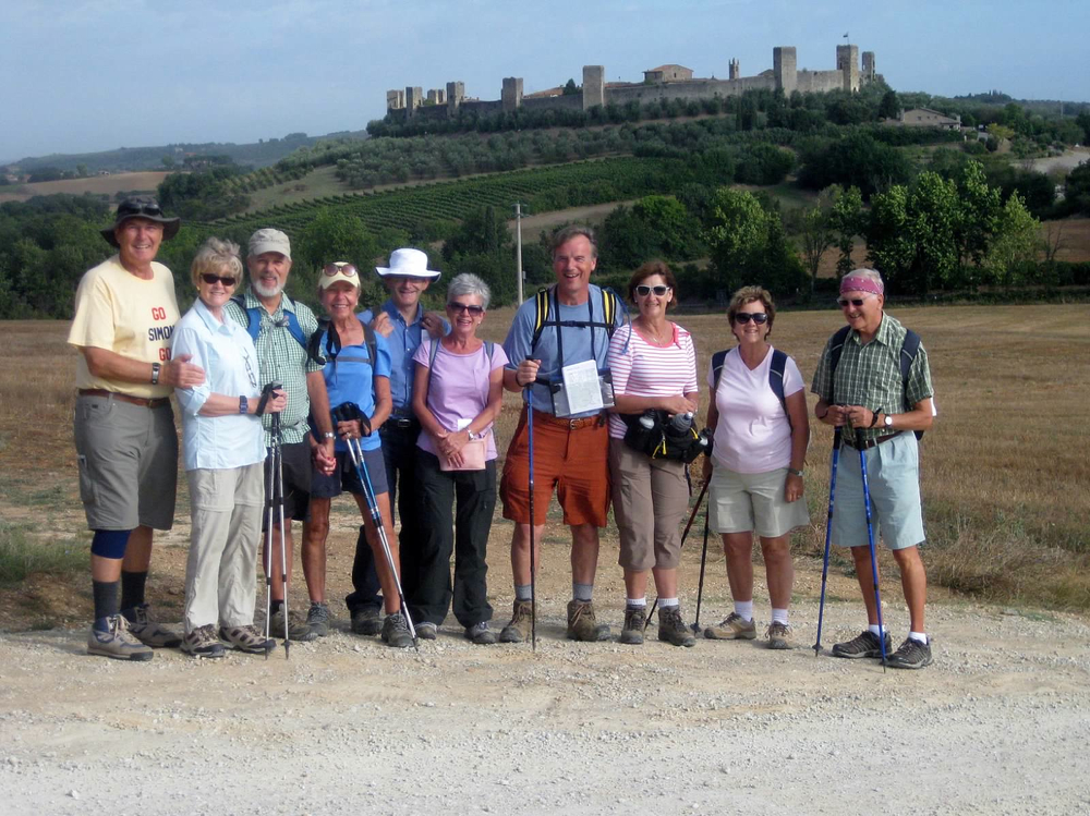 A group  on a previous Pilgrimage
