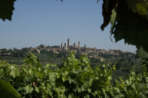 Leaving San Gimignano on day one