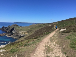 Walking the Cornish coastal path