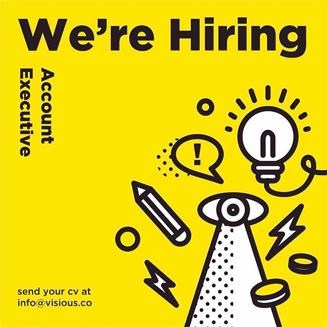 We're hiring! Account executive. Send your cv at info@visious.co #visiousstudio