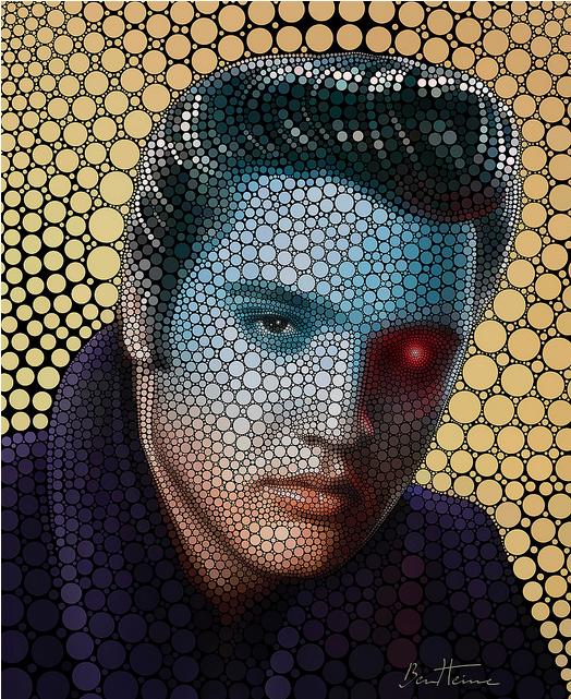 Elvis Presley  by Ben Eine