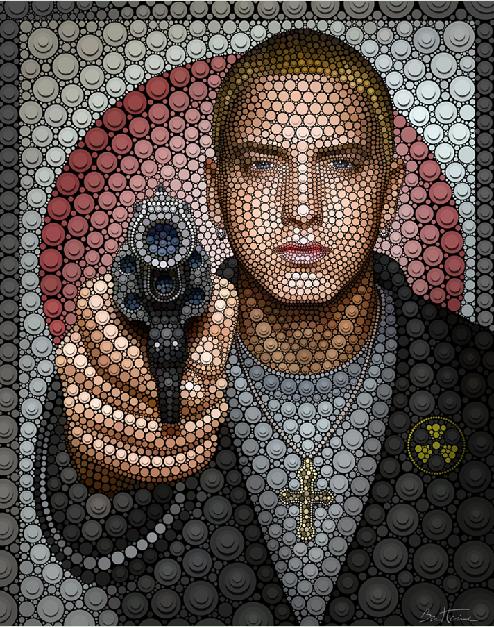 Eminem  by Ben Heine