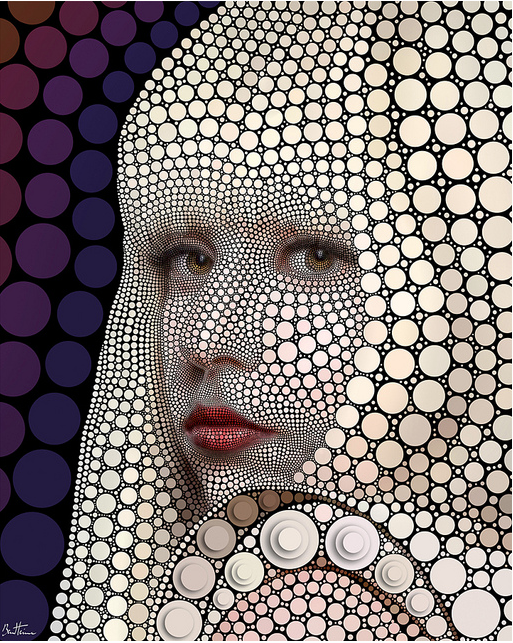 Lady Gaga  by Ben Heine