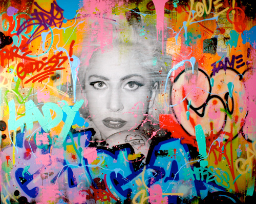 Artwork by   Cope 2  -  personal collection of Stefani Germanotta (Lady GaGa)