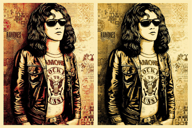 Tommy Ramone by Shepard Fairey