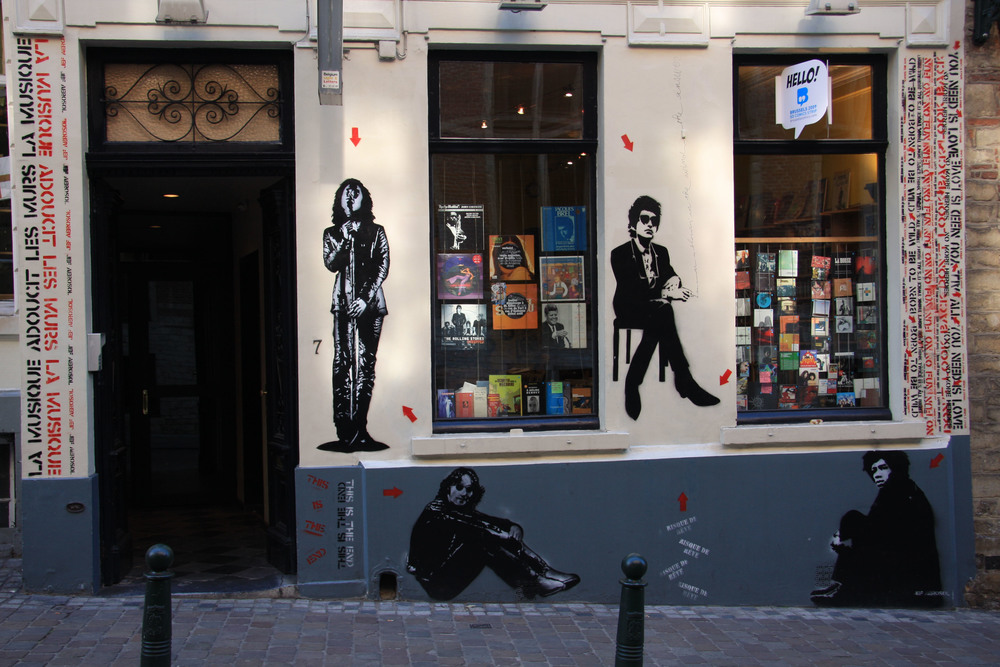 Fresque Bruxelles, Disquaire Bruxellois. 2008