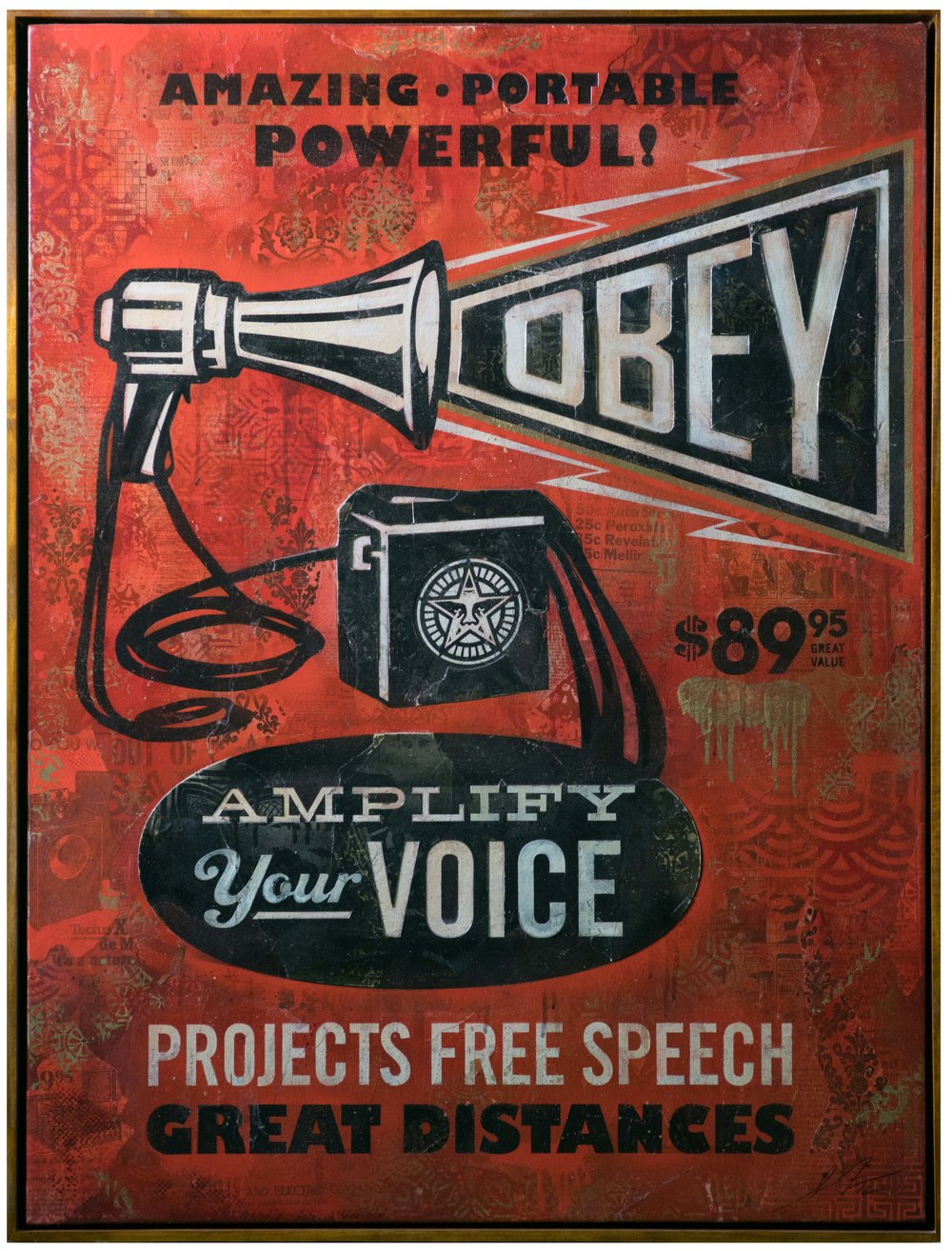 SHEPARD FAIREY, Megaphone Obey, 2012 © Lignel Photographe Baptiste