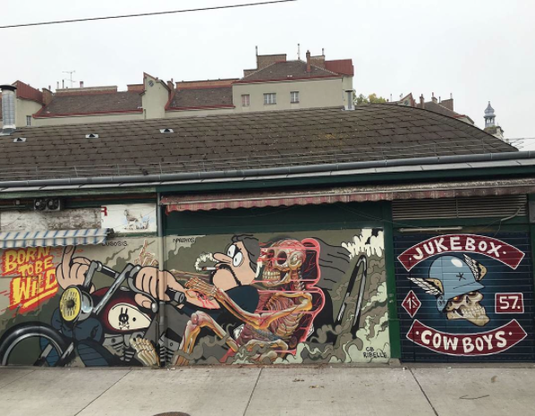 Artwork by  Nychos  and  Luca Lugosis