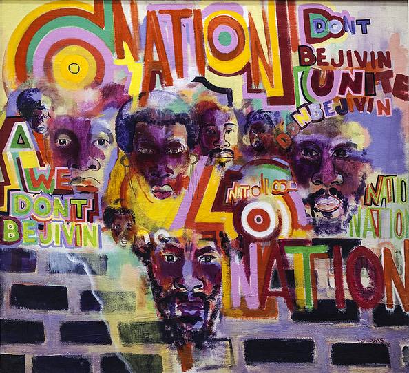 Gerald Williams,  Nation Time , 1969. Acrylic on canvas. 48 x 56 inches. Photo: Geoffrey Black/Johnson Publishing Company.