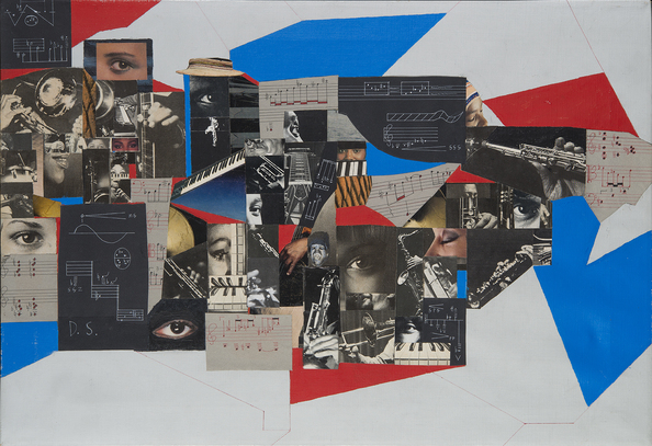 Muhal Richard Abrams, View From Within, 1985. Collage and acrylic on canvas. 17 ¾ x 25 ½ inches. Photo: Gavin Ashworth, © MCA Chicago.