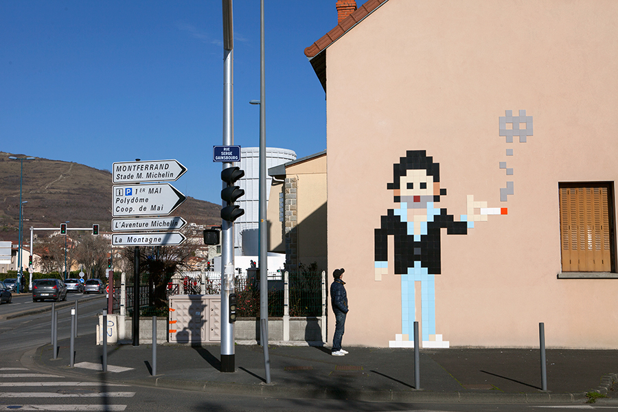 Artwork by Invader
