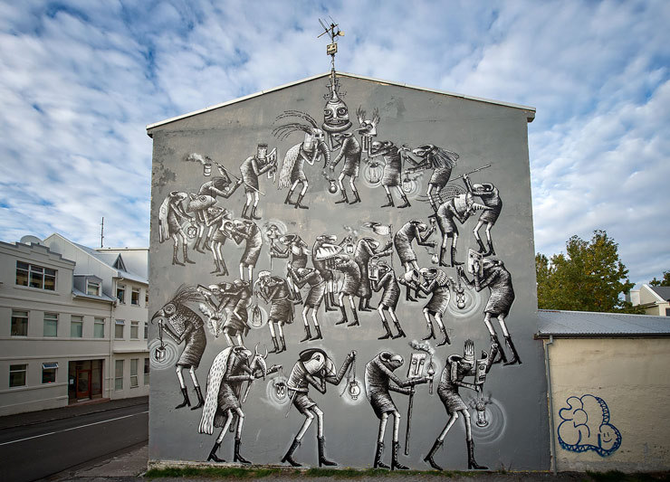 Artwork by Phlegm