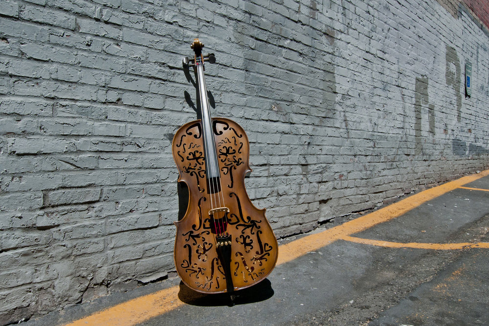 'Remnants Always Remain'  Broken cello, Mixed Media.2015