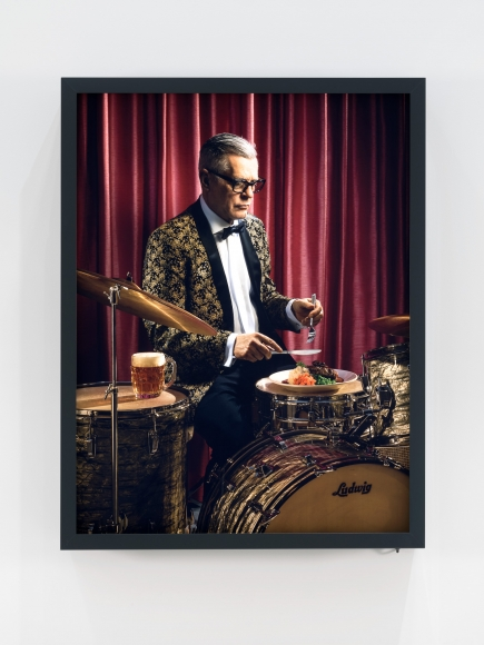 Rodney Graham Dinner Break (Salisbury Steak)- 2017 Painted aluminum lightbox with transmounted chromogenic transparency 44 5/8 x 34 5/8 x 7 inches (113.3 x 87.9 x 17.8 cm) Edition of 5 RG 555