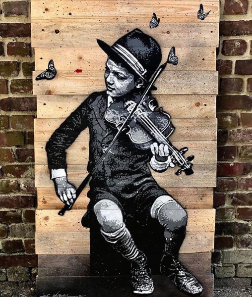 """The Fiddlin' Kid"" by  Jef Aérosol"