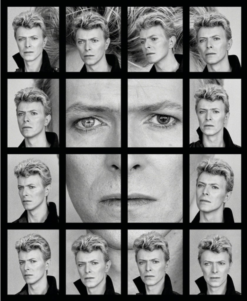 David Bowie's Eyes Collage  , 1982  Stochastic pigment ink on archival cotton rag photo paper