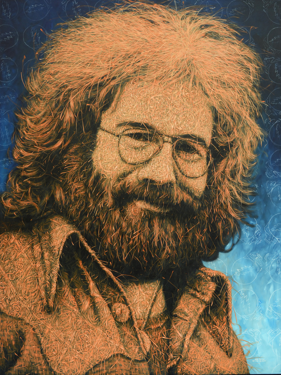 """Jerry Garcia"" 96"" x 72"" Oil on Canvas 2017"