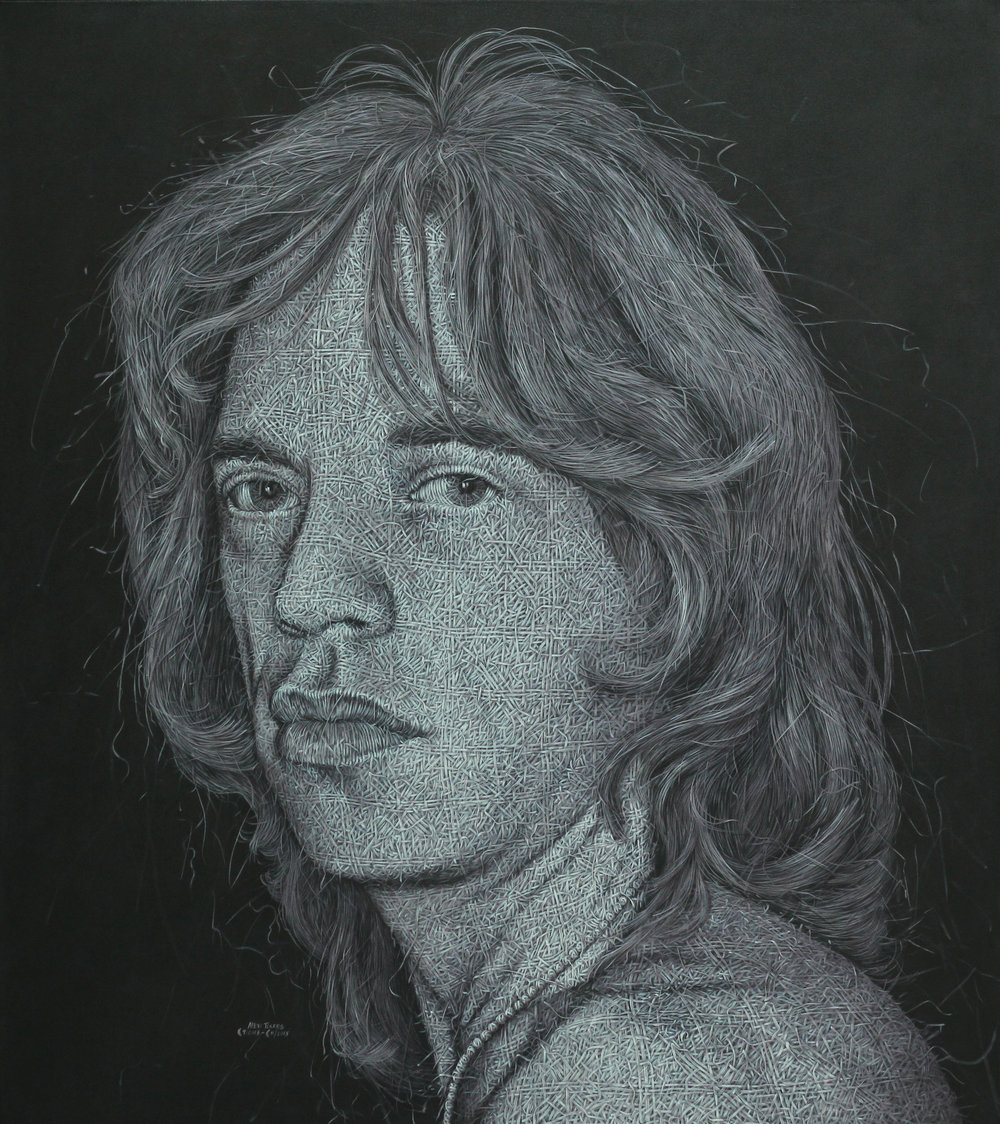 """Mick Jagger II"" 72"" x 64"" Oil/Canvas 2013"