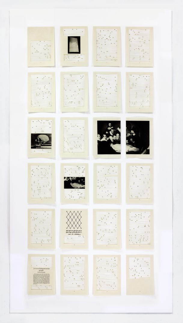 Jane Benson,  Song for Sebald (Chapter 1) , 2016, Hand-cut archival inkjet print on paper with sound, 59 1/4 x 32 1/32 in, Edition of 3, 1AP, Courtesy of the artist and LMAKgallery, New York