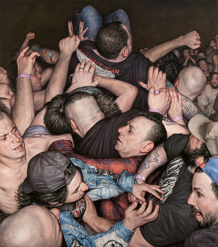Dan Witz, Scrum 2 (All Out War), 2015