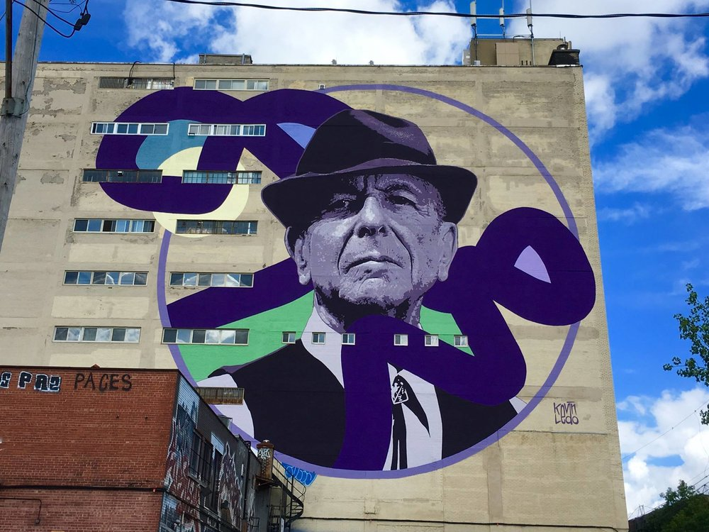 Leonard Cohen by  Kevin Ledo