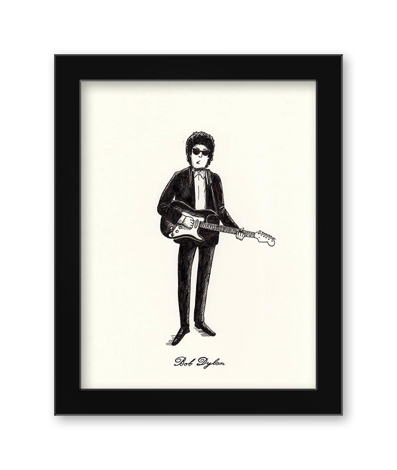 Max Dalton - Bob-Dylan (Framed)