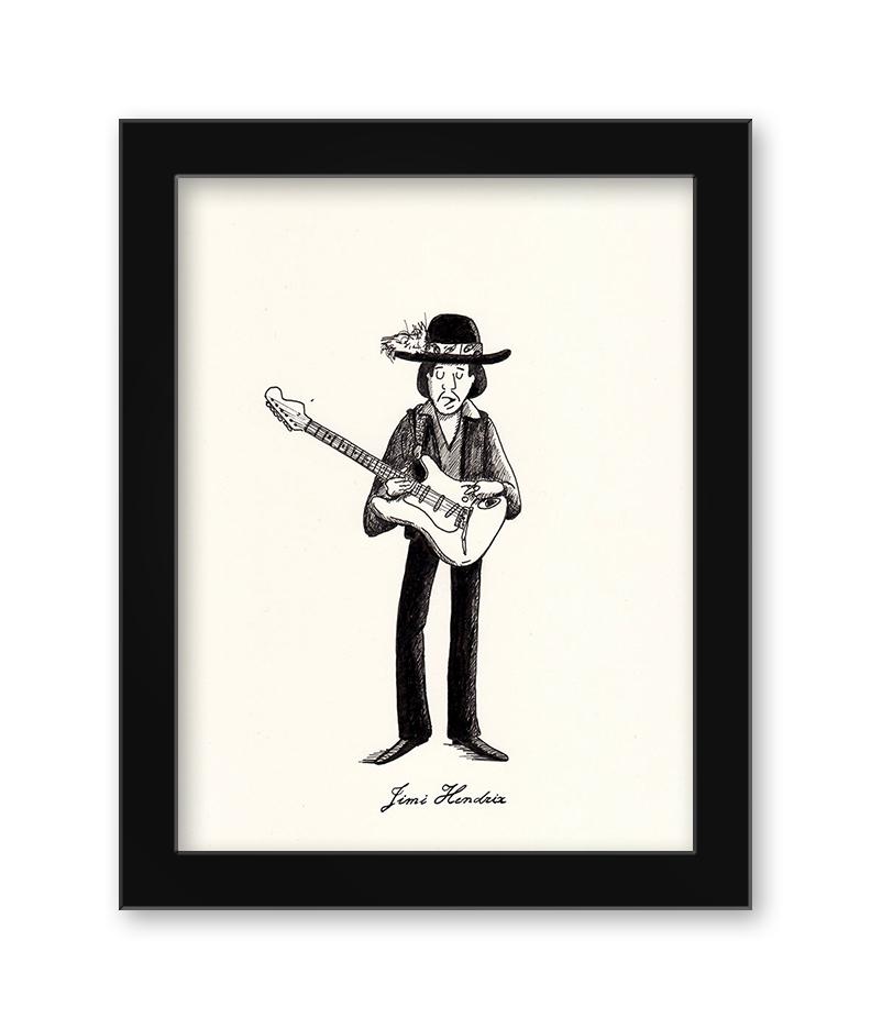 Max Dalton - Jimi Hendrix (Framed)