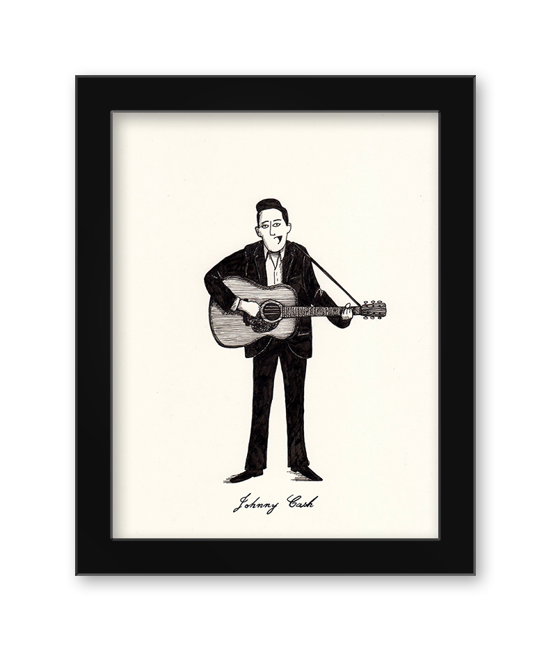 Max Dalton - Johnny Cash (Framed)