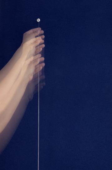 Work On Felt (Variation 14) Dark Blue , 2017