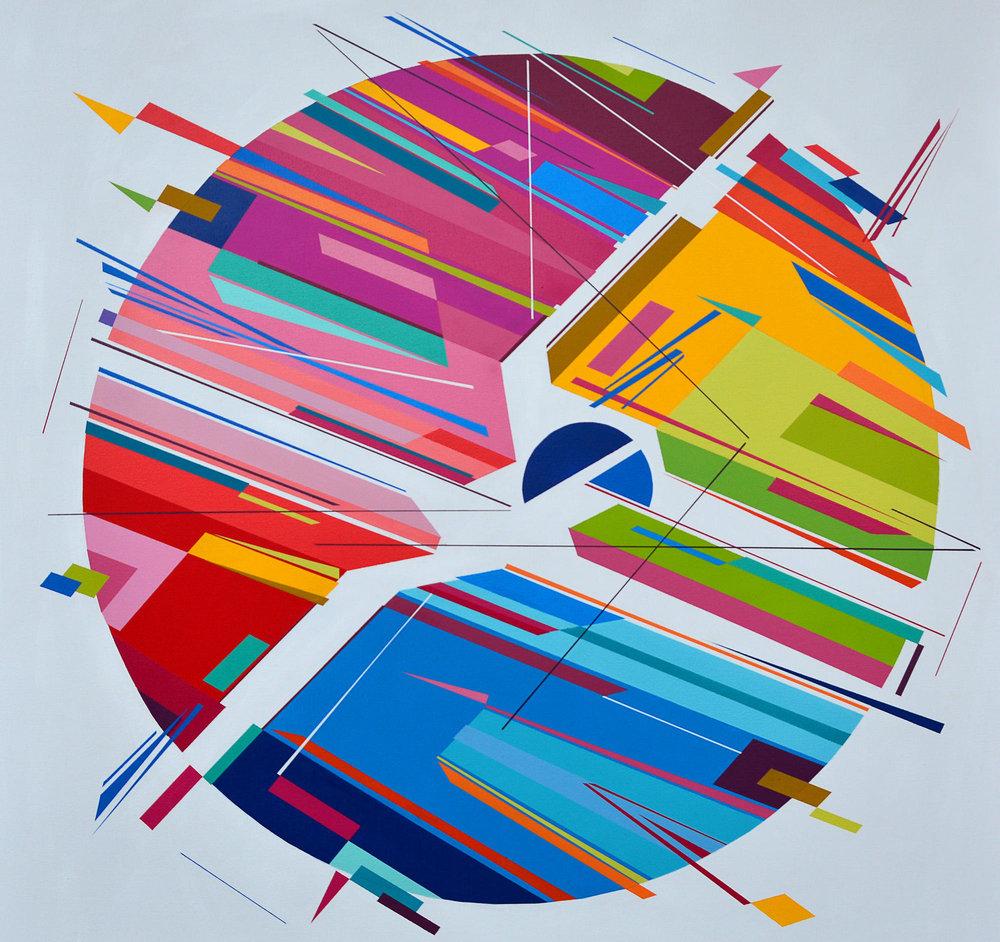 Rhythim is Rhythim by Kenor Acrylic on canvas 39 37 / 100 x 39 37 /100 in 100 x 100 cm 2017