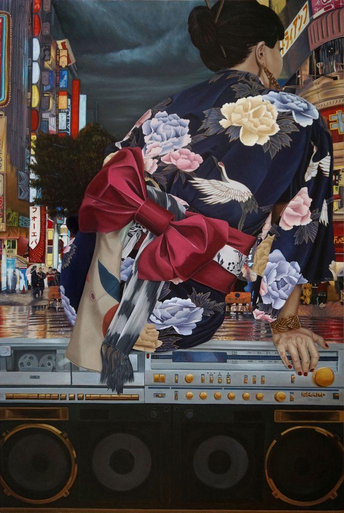 """Ken Flewellyn - """"Triumph"""" (2017) Oil on wood panel - 24"""" × 36"""""""