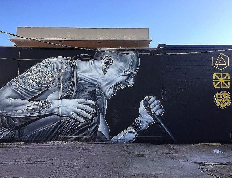 """Sometimes the loudest screams are unheard"" mural by O wen Dippie   Photo by  Impermanent Art"