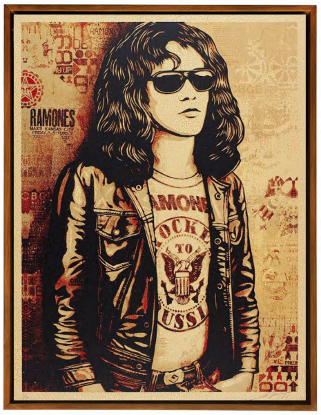 Tommy Ramone (Edition of 6), 2016  Silk Screen on wood panel