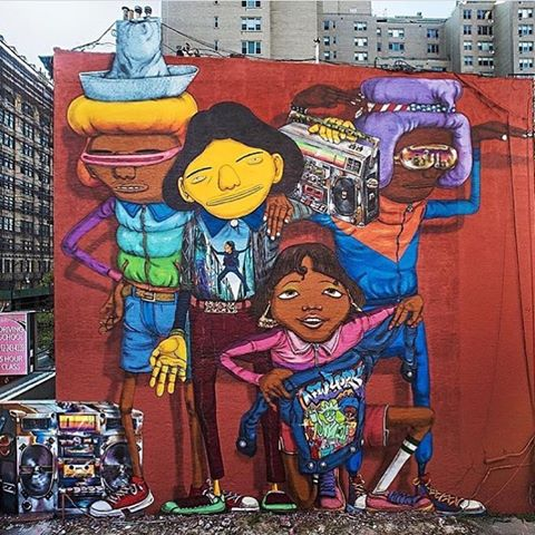 Artwork by Osgemeos