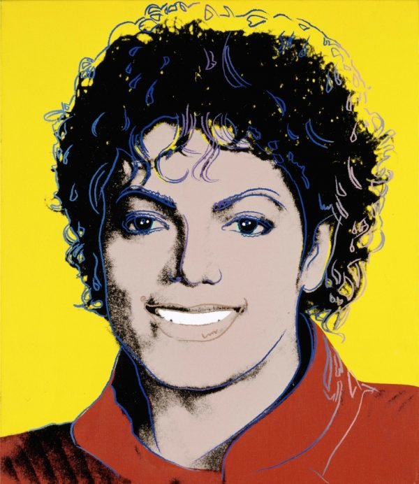 'Michael Jackson' by Andy Warhol (1984). From the Smithsonian Institution.