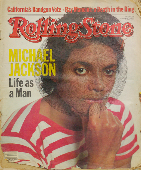 'Michael Jackson Rolling Stone (Black)' by Graham Dolphin (2017). Courtesy of the artist.