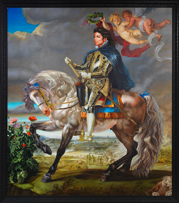 'Equestrian Portrait of King Phillip II (Michael Jackson)' (2010) by Keyhinde Wiley. From the Olbricht Collection.