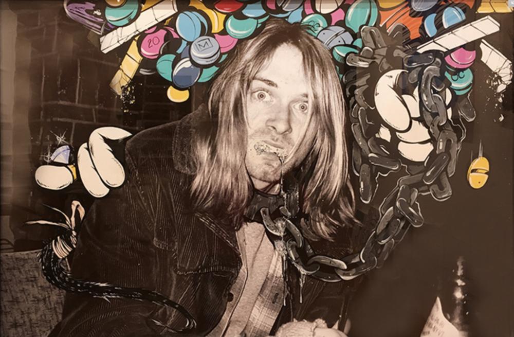 """Kurt – Pill-Head Series"" Acrylic on archival photo paper 36in x 24in"