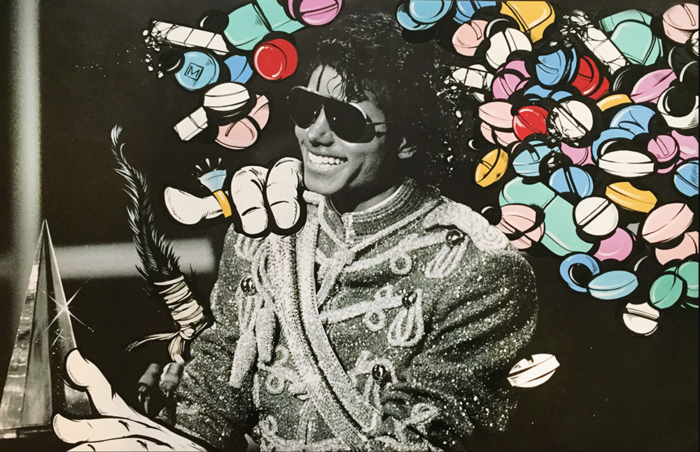 """Michael – Pill-Head Series""  Acrylic on archival photo paper 36in x 24in"