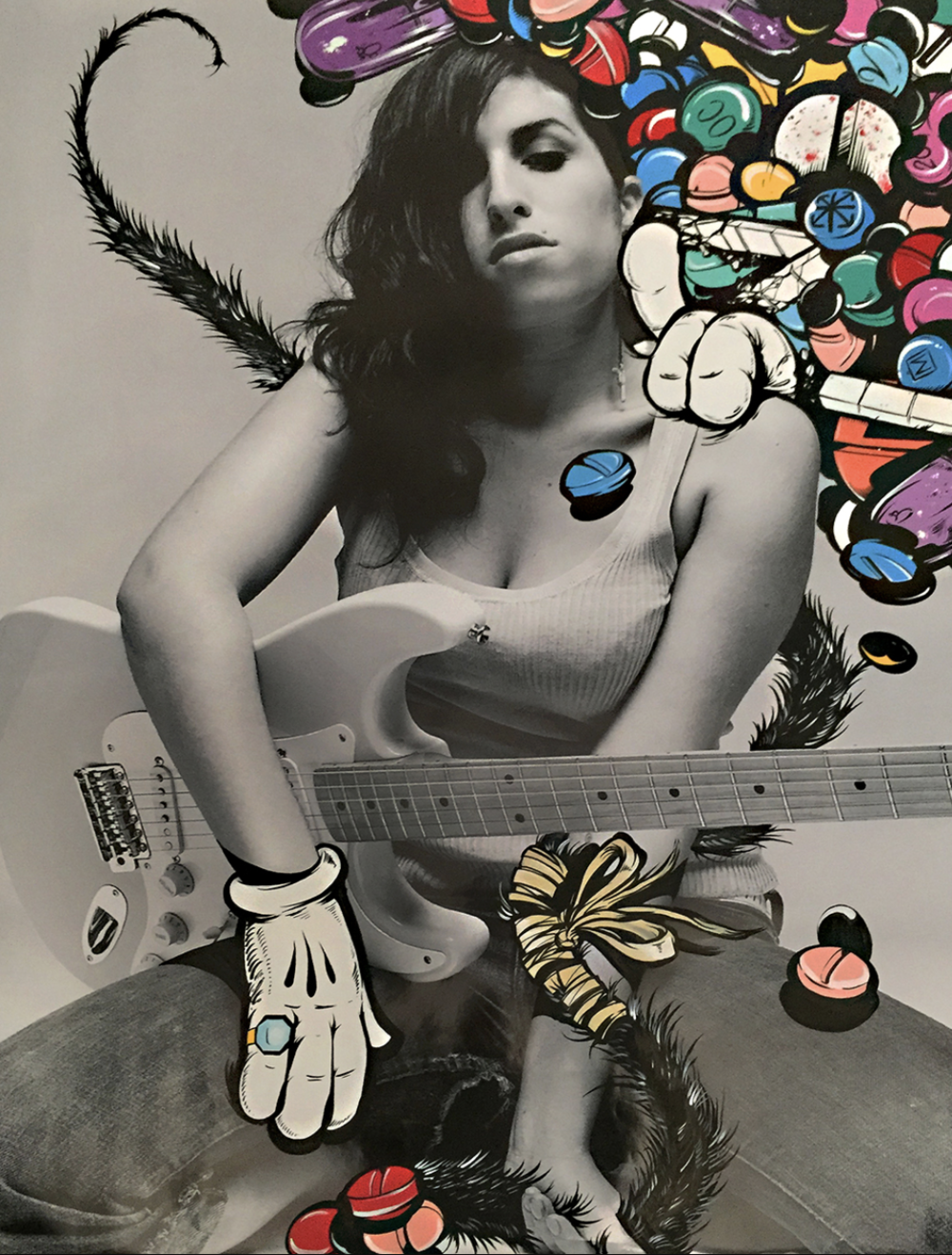 """Amy – Pill-Head Series""  Acrylic on archival photo paper 36in x 45in"