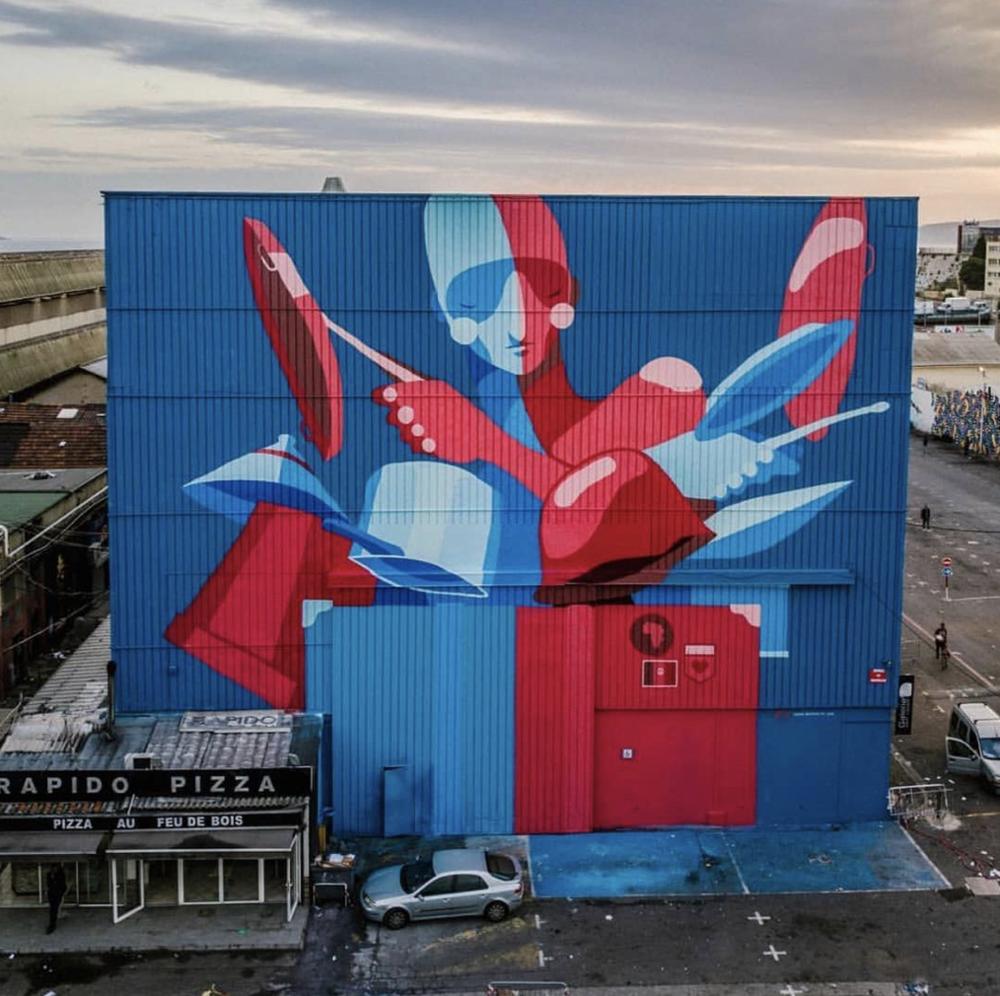 Mural by Zesar Bahamonte