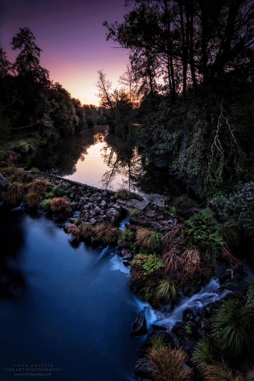 arenteiro river sunrise