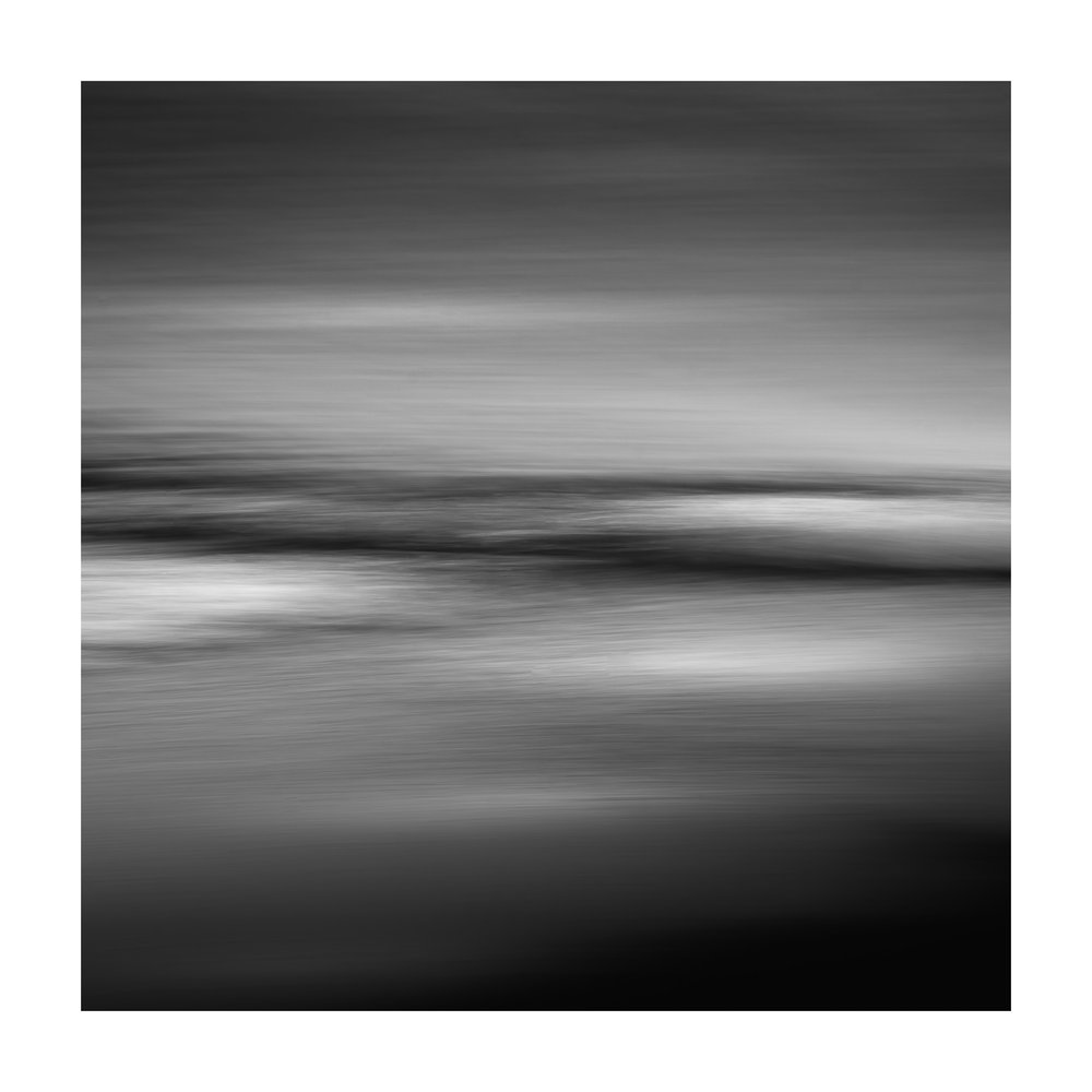 sea abstract in mono