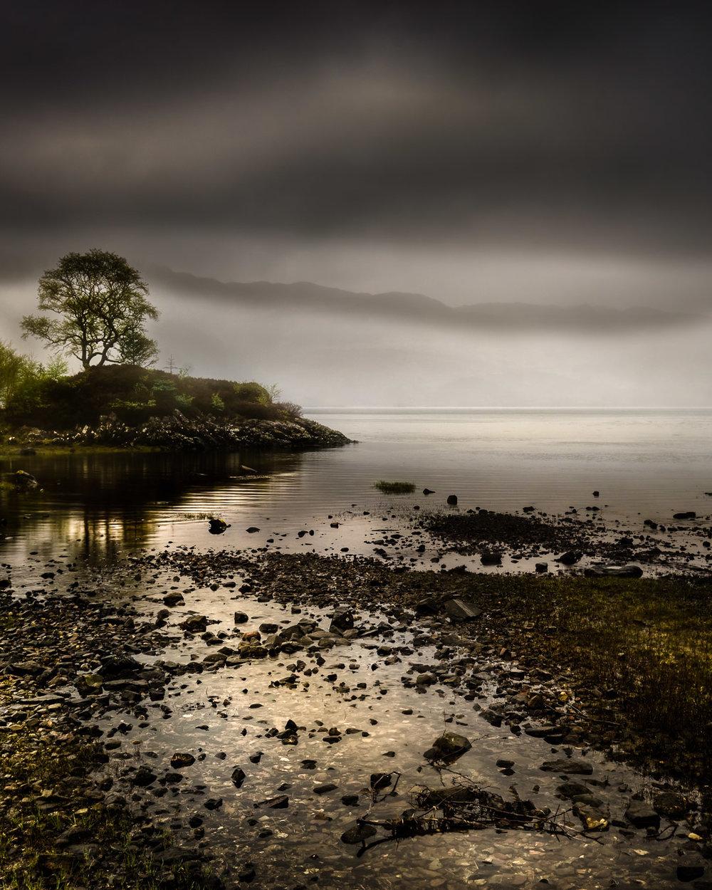 morning mist over Loch Sunart
