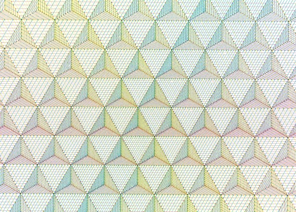 CMY Tetrahedron: detail