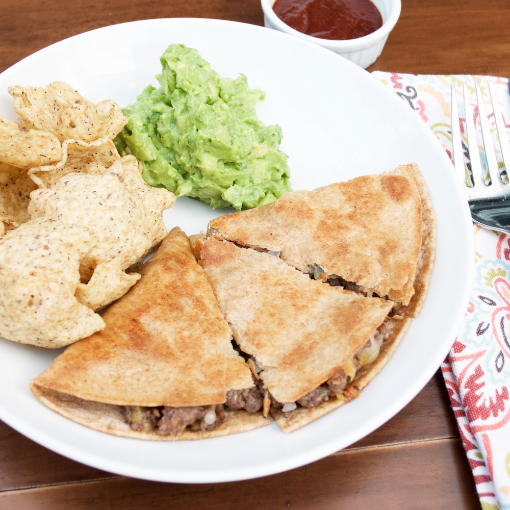 Bison Quesadilla w/ Apple Guacamole  Ready in 25 Minutes